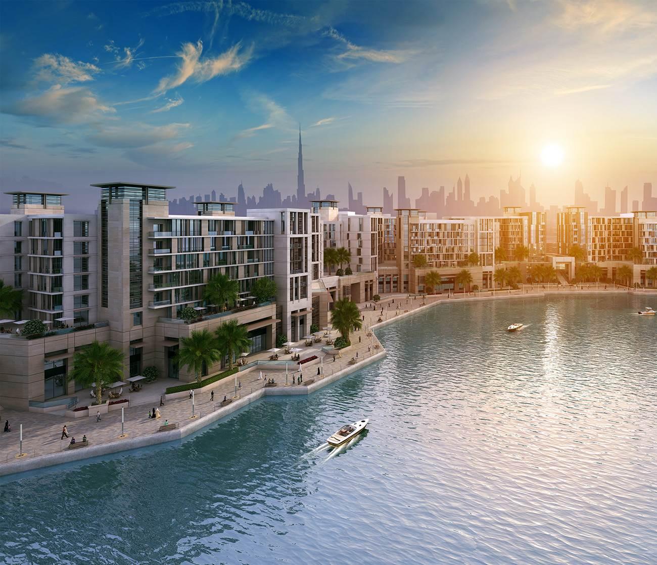 دبي وورف بواجهة مائية