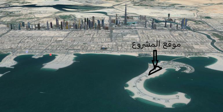 موقع فلل امالفي في دبي